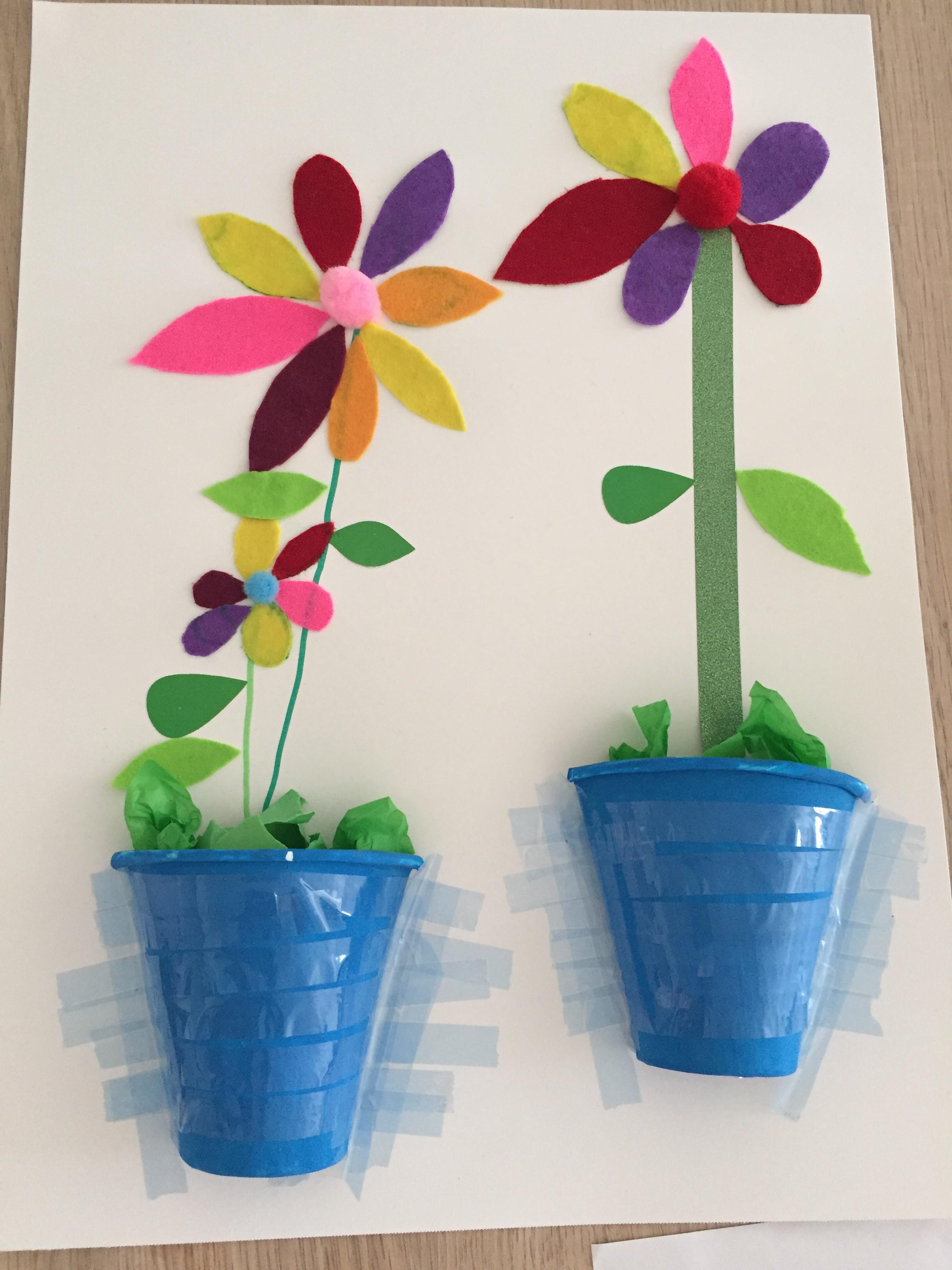 Pots de fleurs décoration printemps