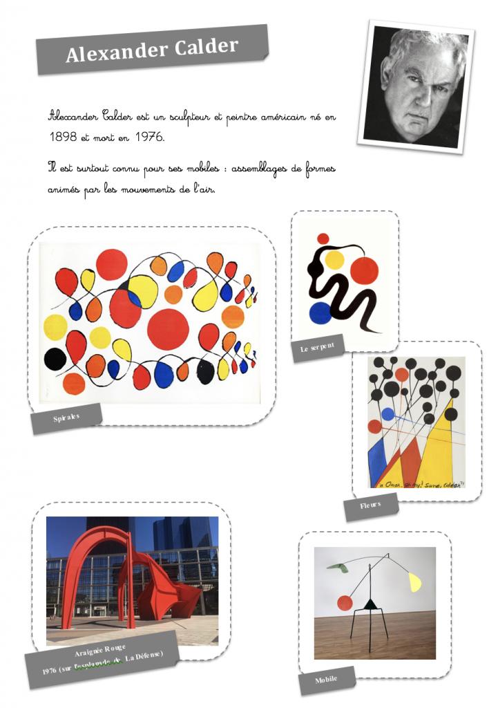 fiche Alexander Calder