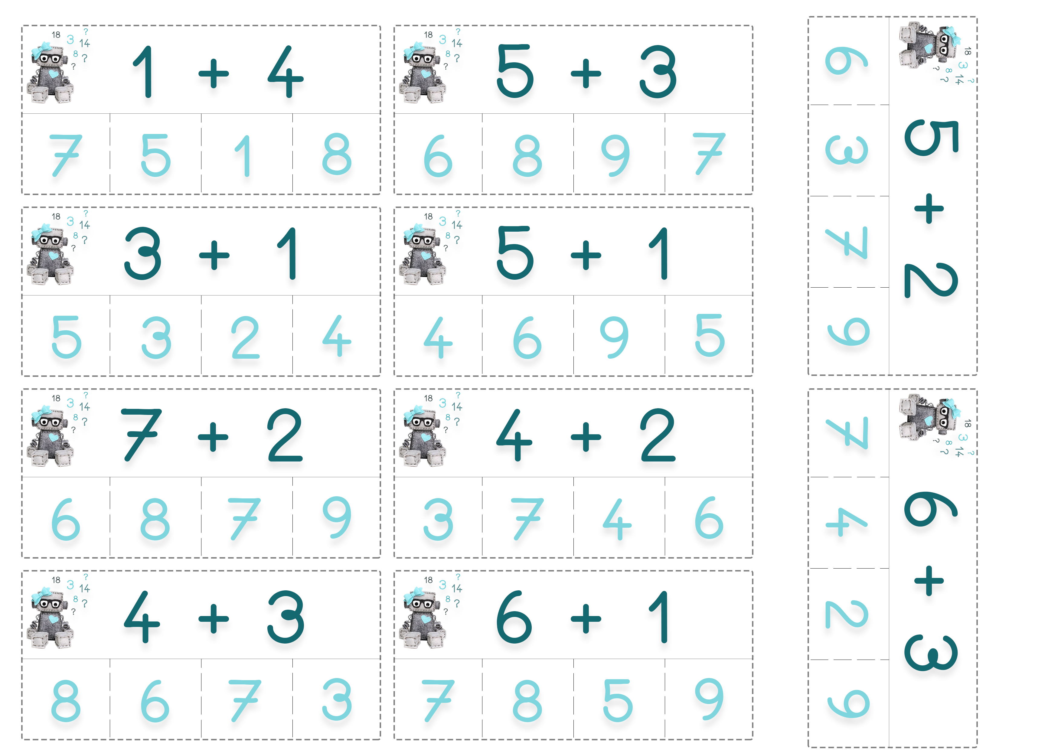 Cartes de calculs mathématiques ief