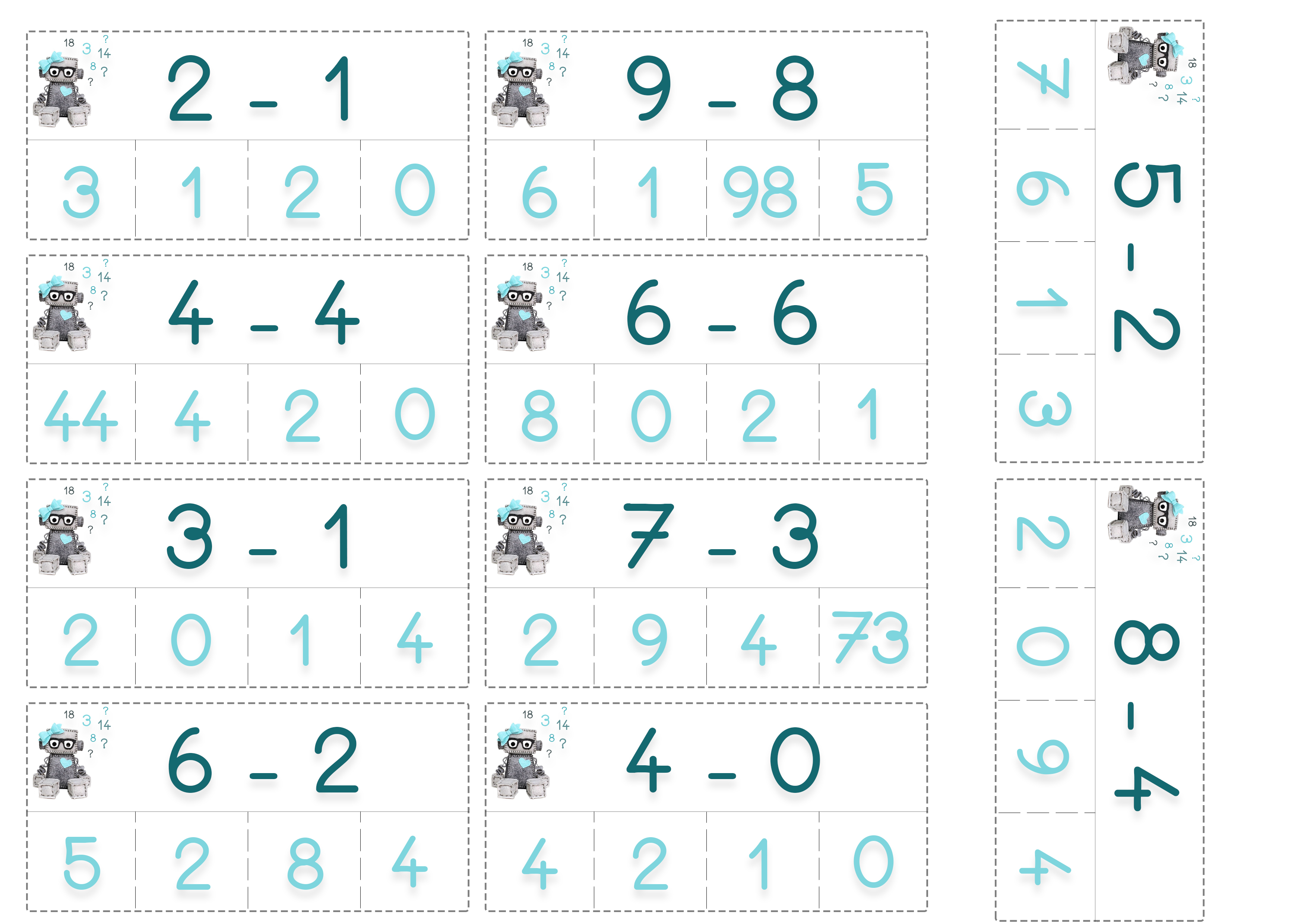 Cartes de calculs maternelle cp ief mathématiques