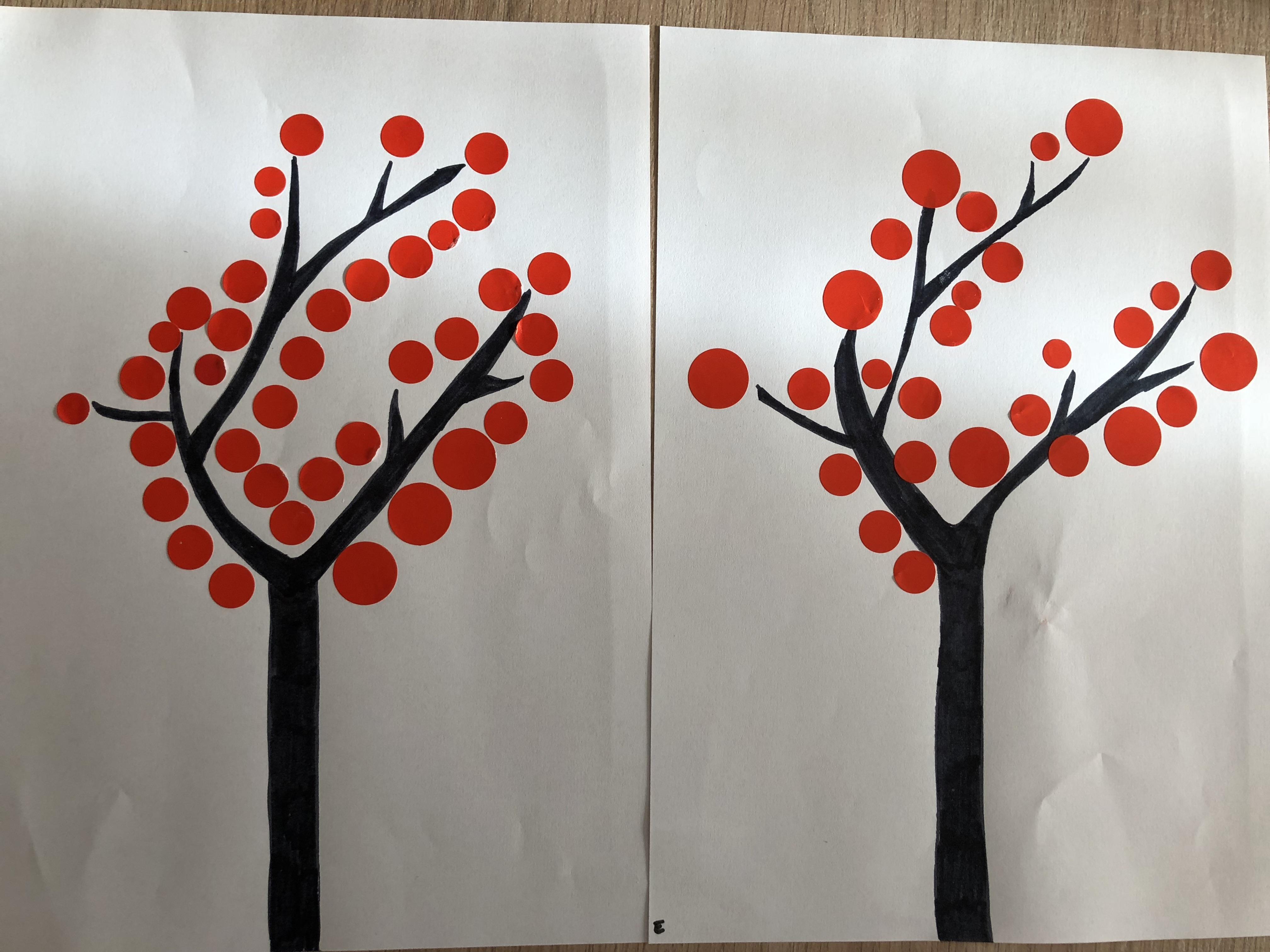 Le petit chaperon rouge arbre gommettes