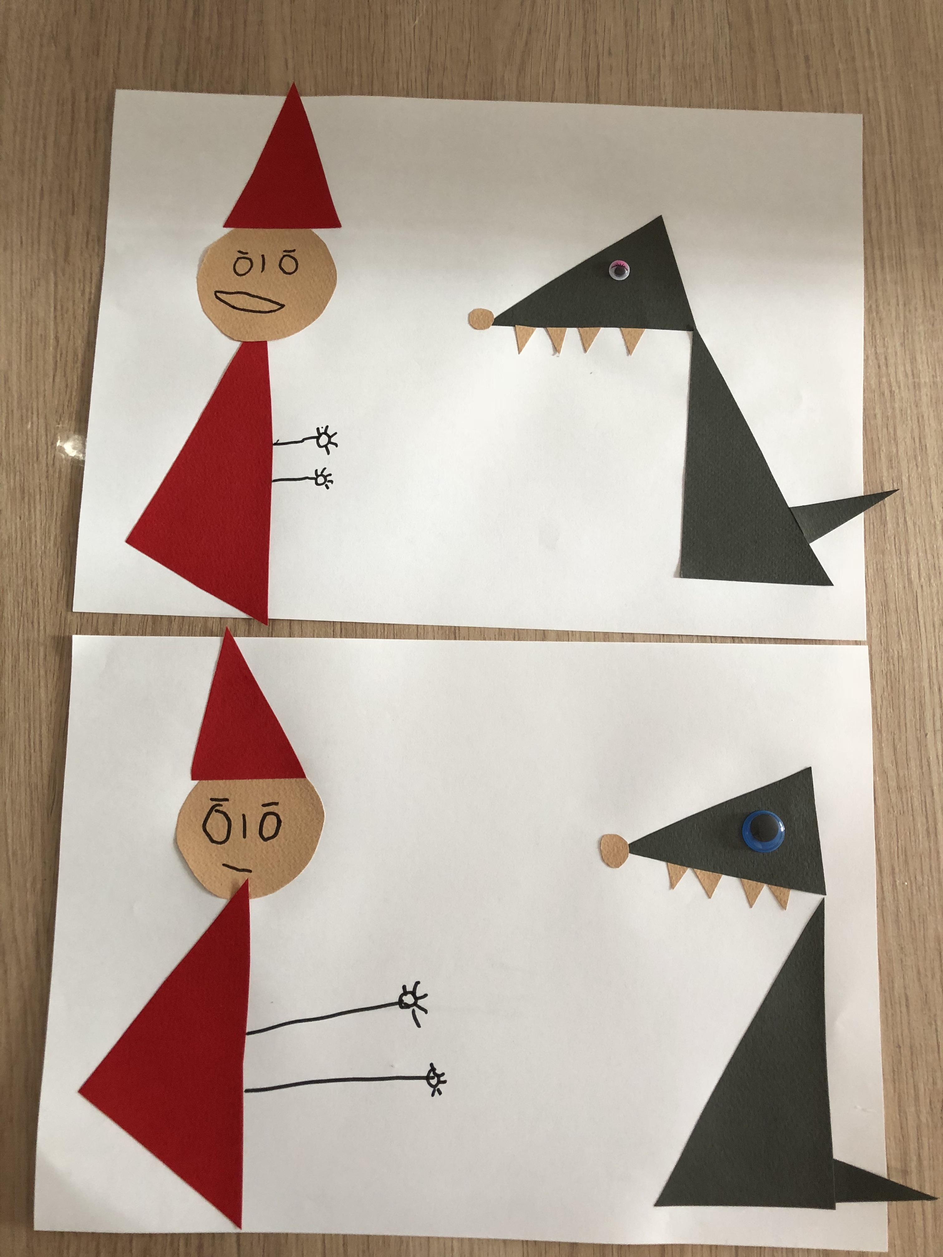 Le petit chaperon rouge le loup triangles