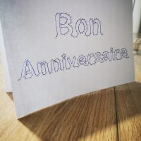carte bon anniversaire points à relier diy