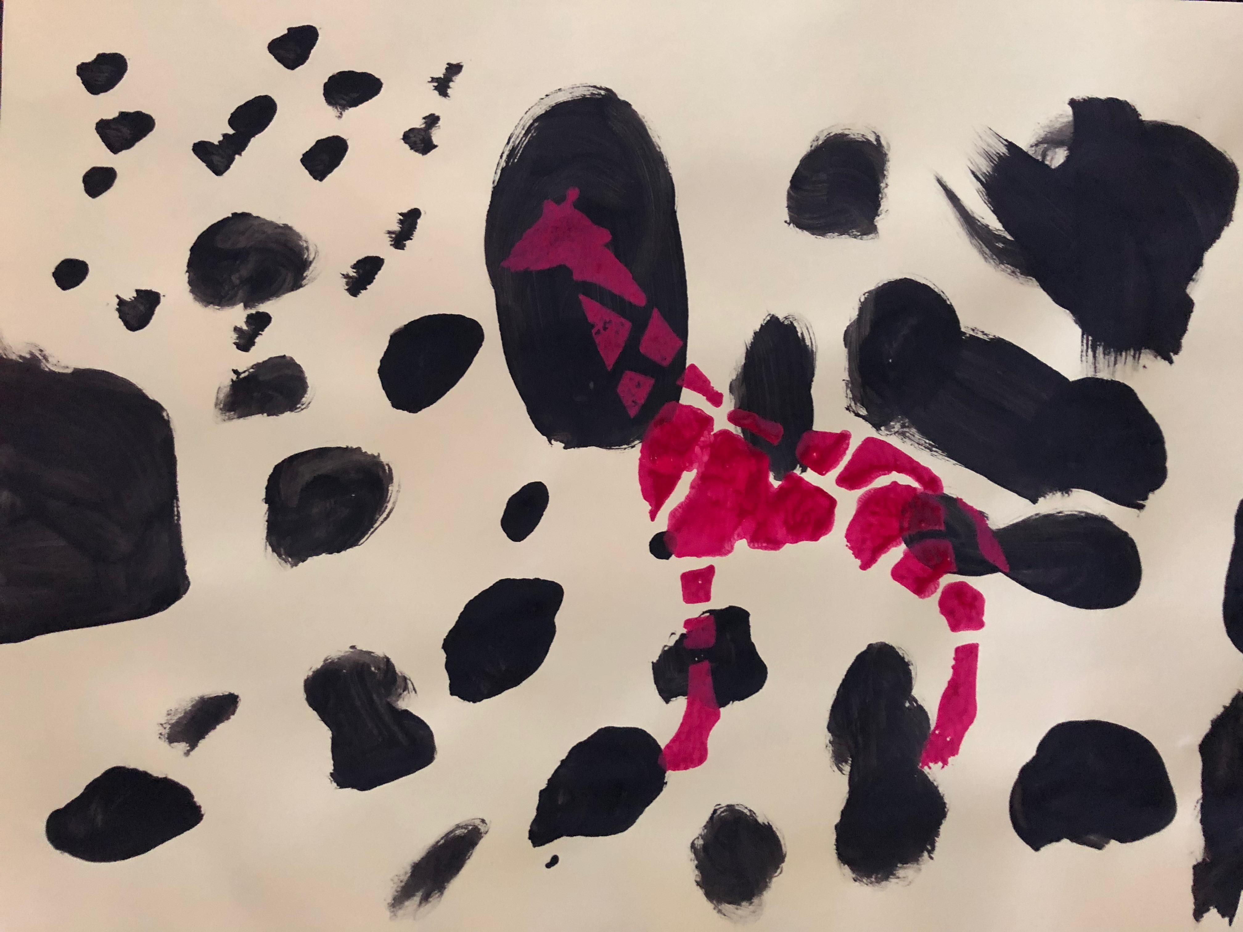 animaux de la savane la girafe peinture forme