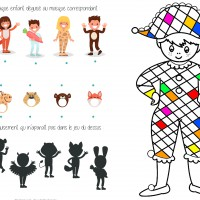 Activités sur le carnaval ombres coloriage ief