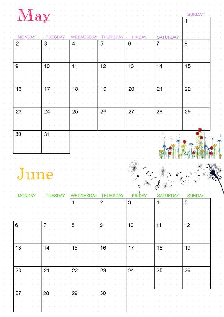 calendrier 2022 mai juin