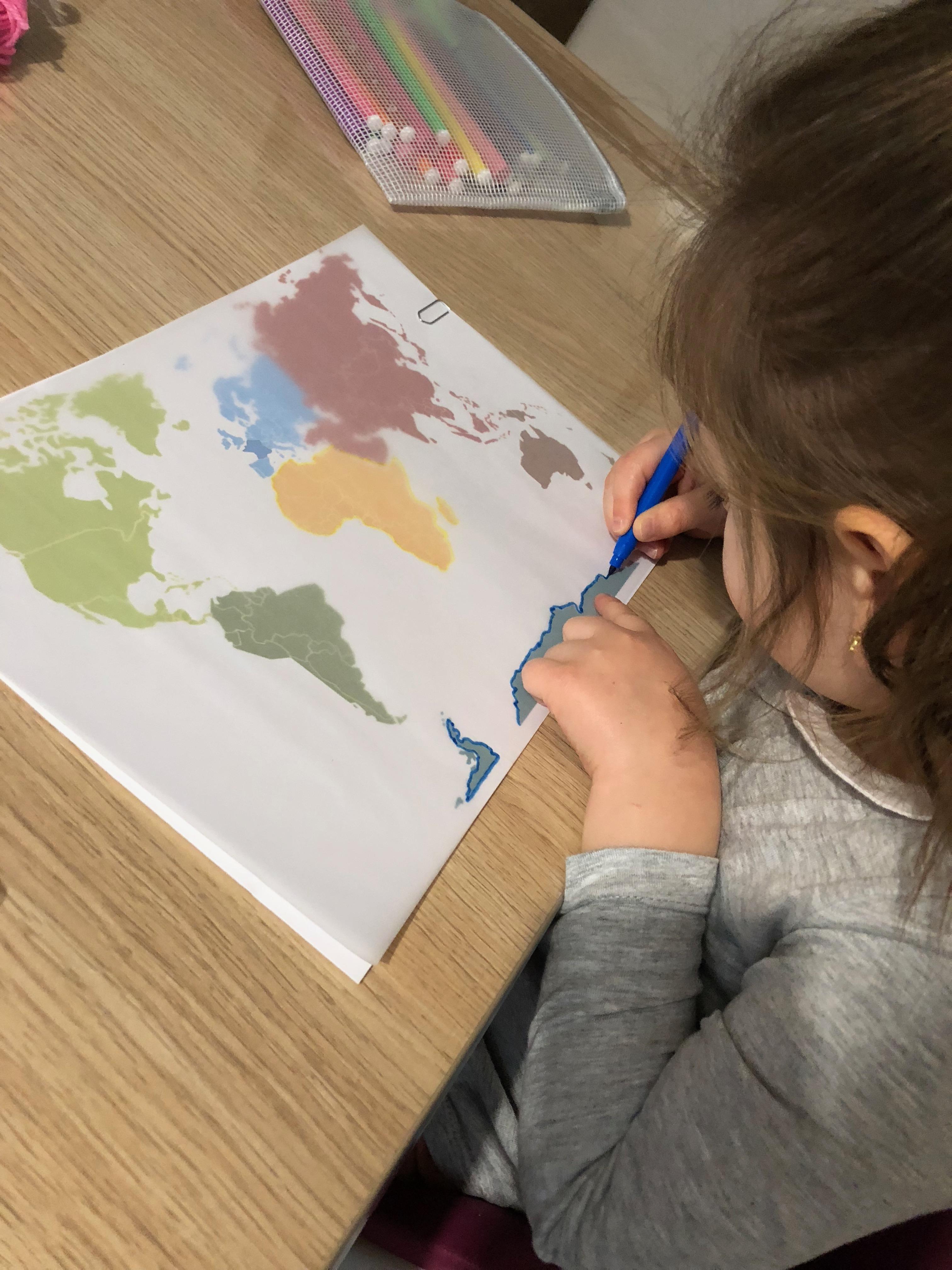tour du monde ief activité carte continents