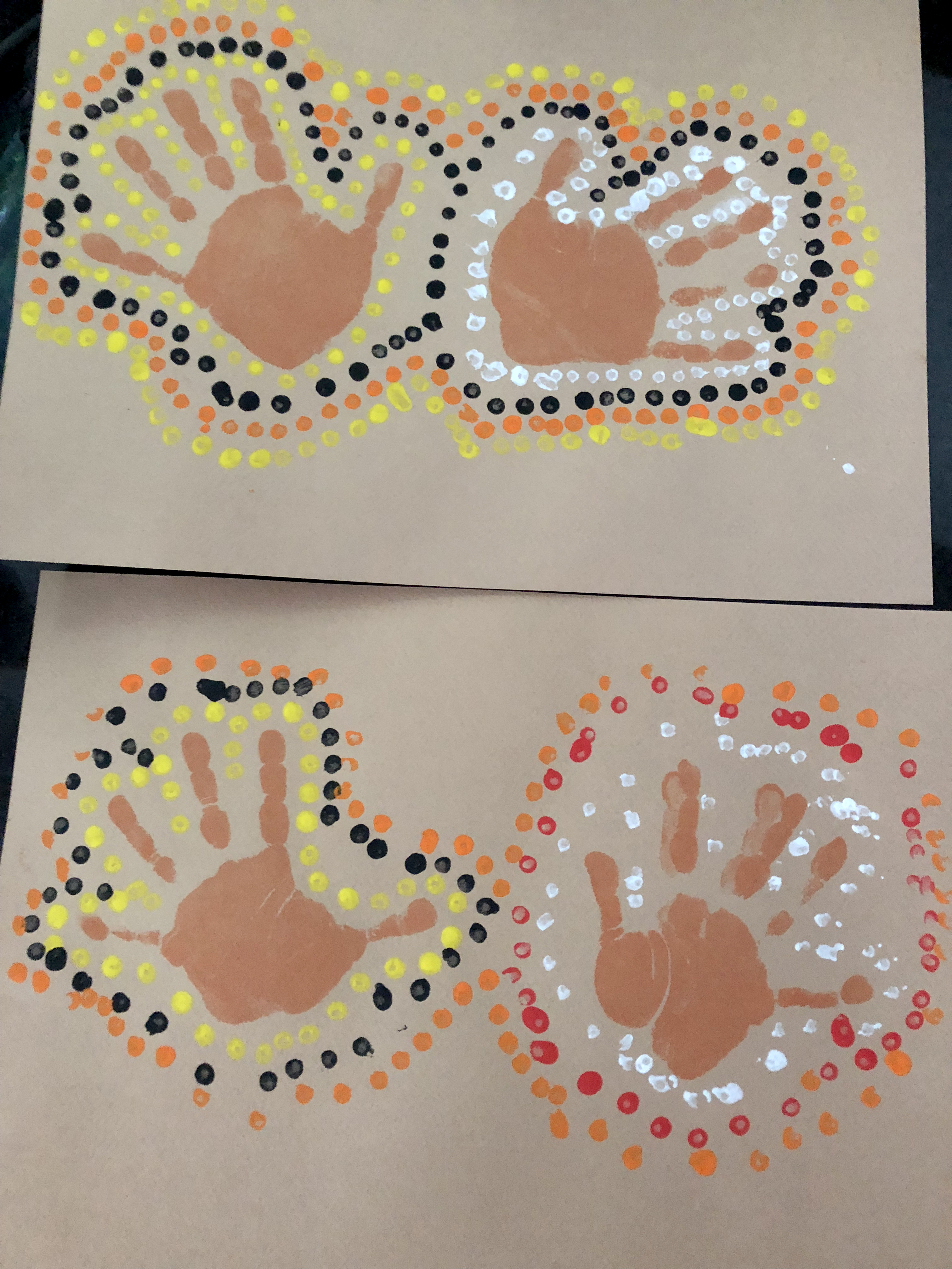 tour du monde ief activité Australie peinture traces mains aborigènes