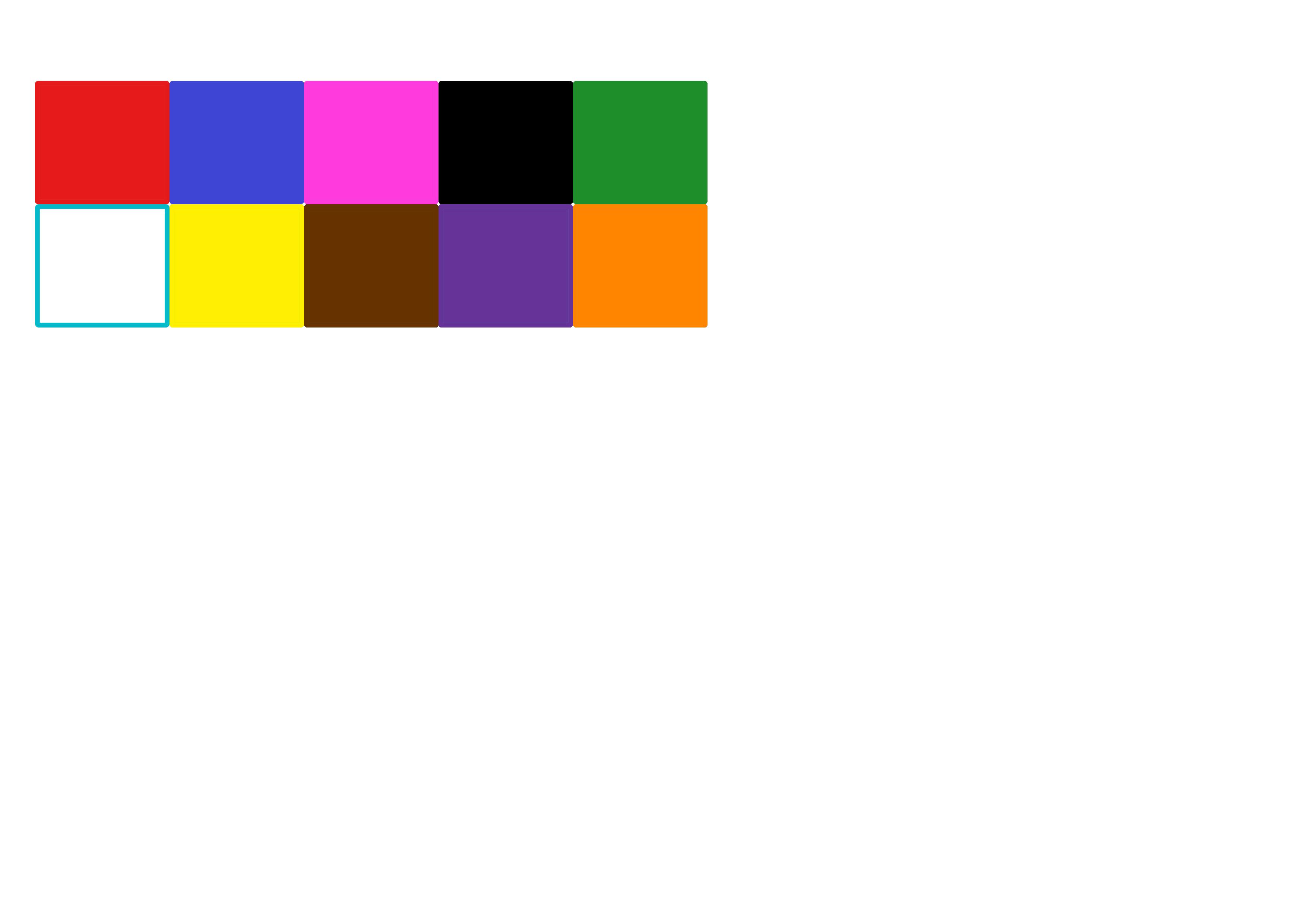 couleurs  cases pour fiche lecture ief