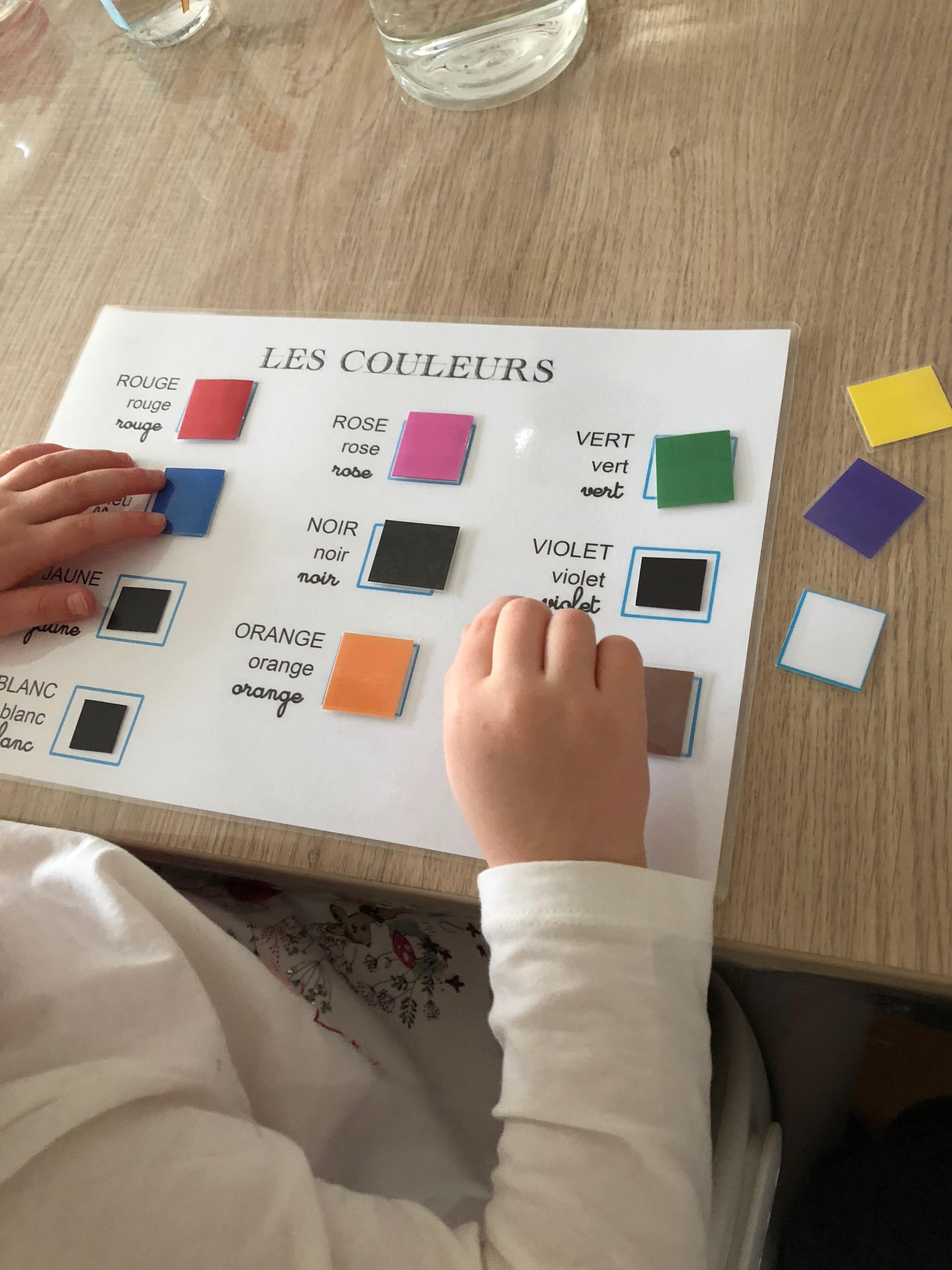 lecture des couleurs
