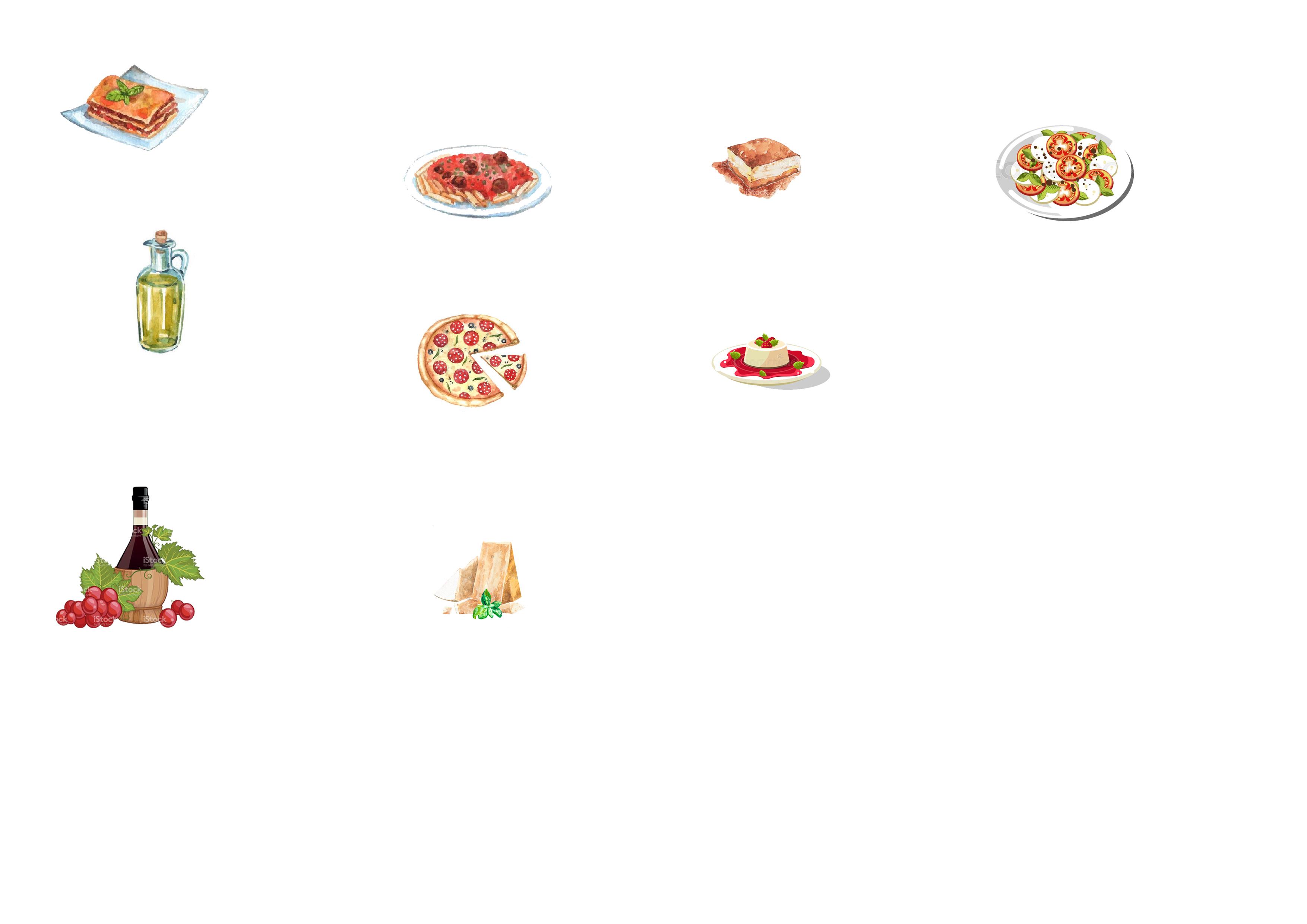 Lapbook Italie ief nourriture création
