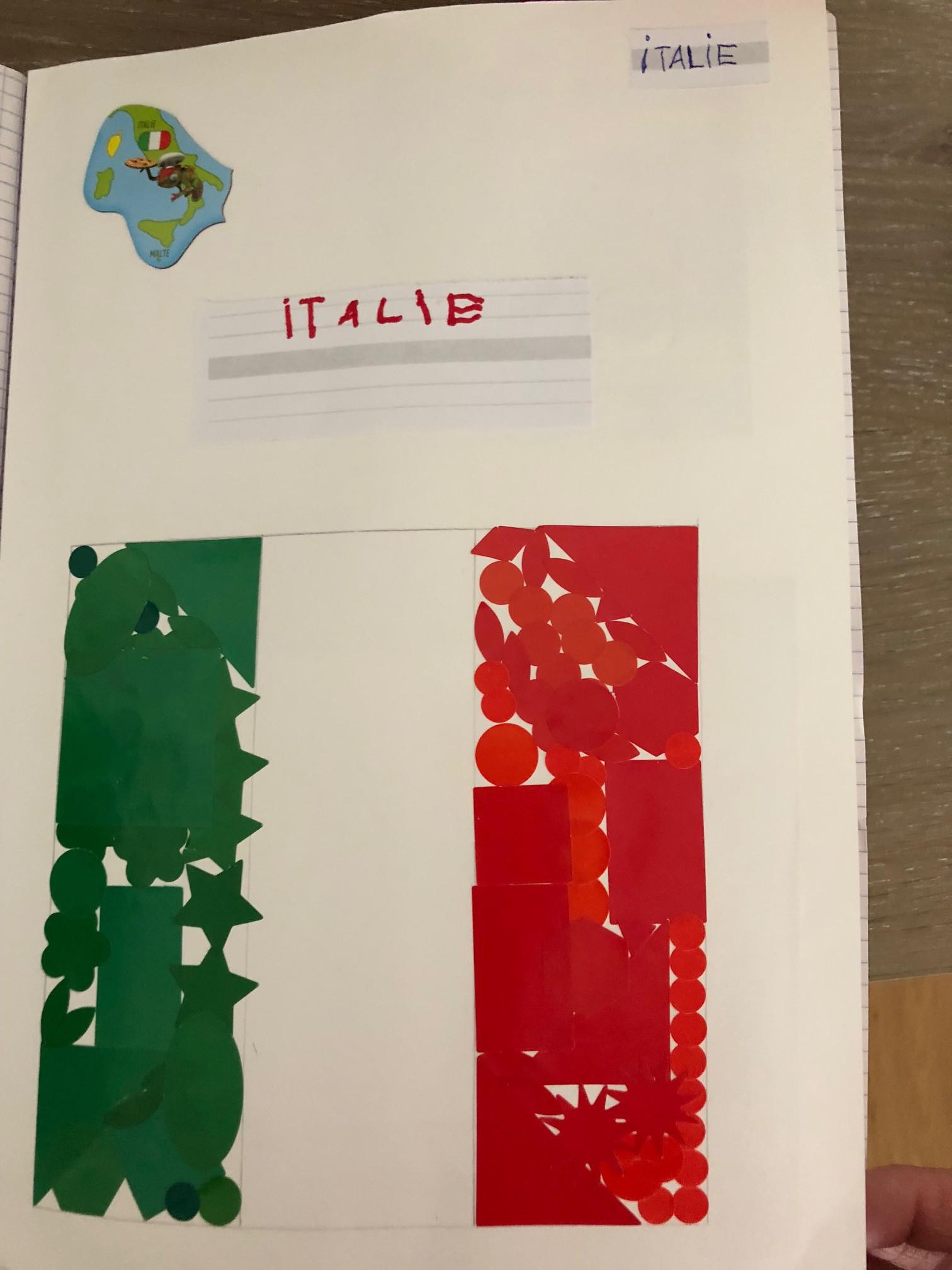 lapbook italie couverture projet