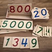 les grands nombres grandes cartes en bois montessori ief
