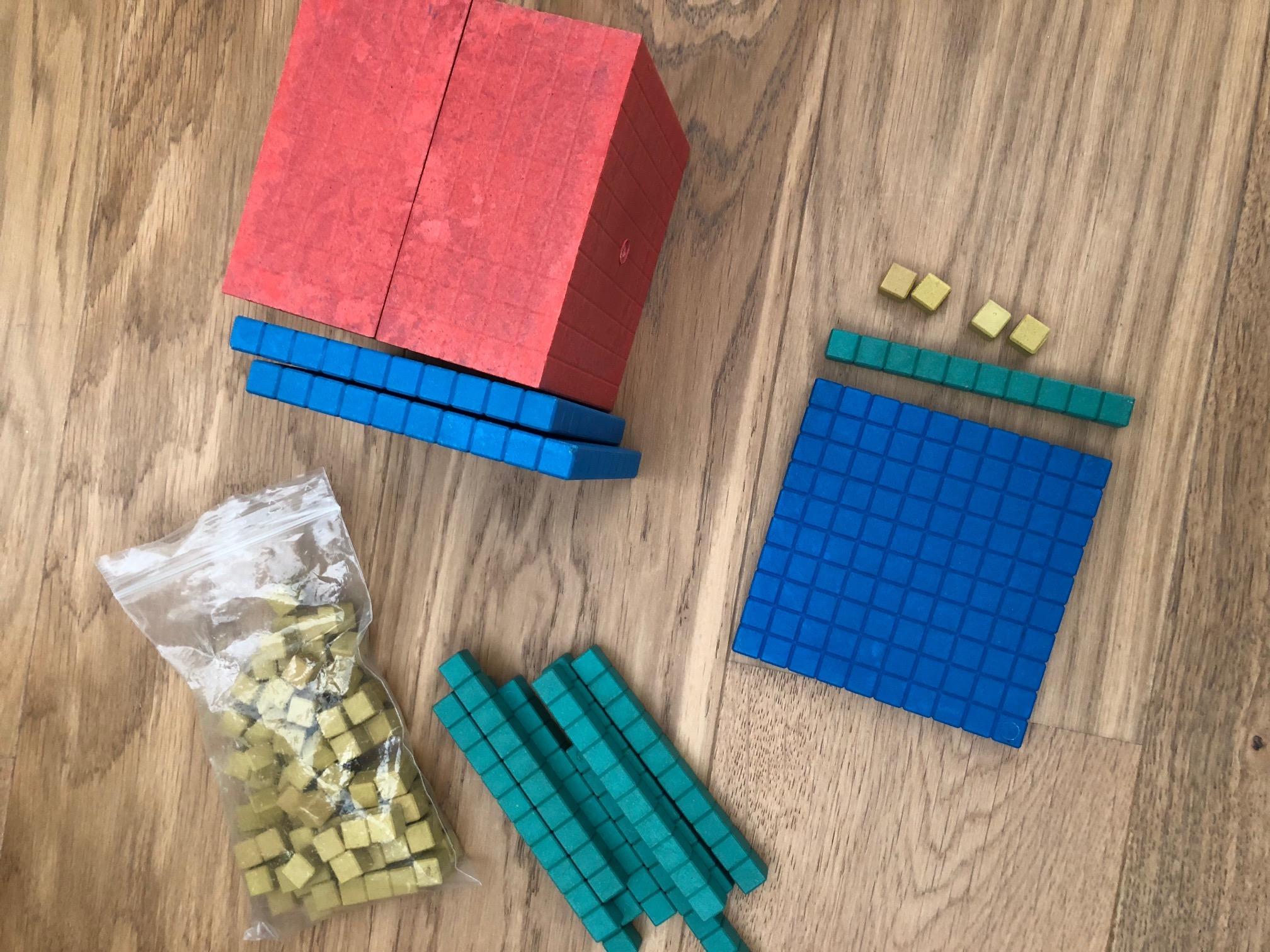 les grands nombres cubes en bois instruction en famille