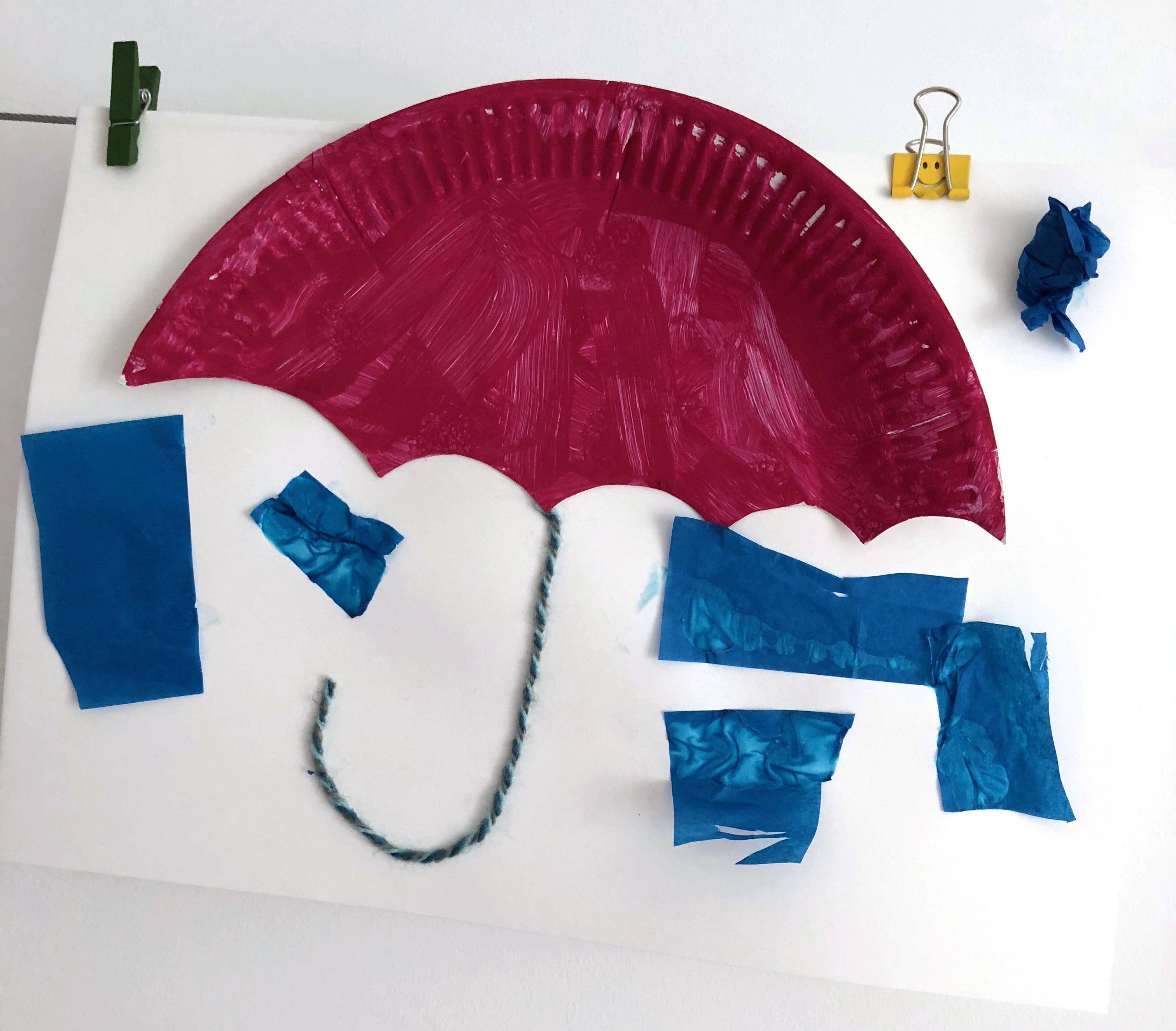 création d'un parapluie activité enfant maternelle