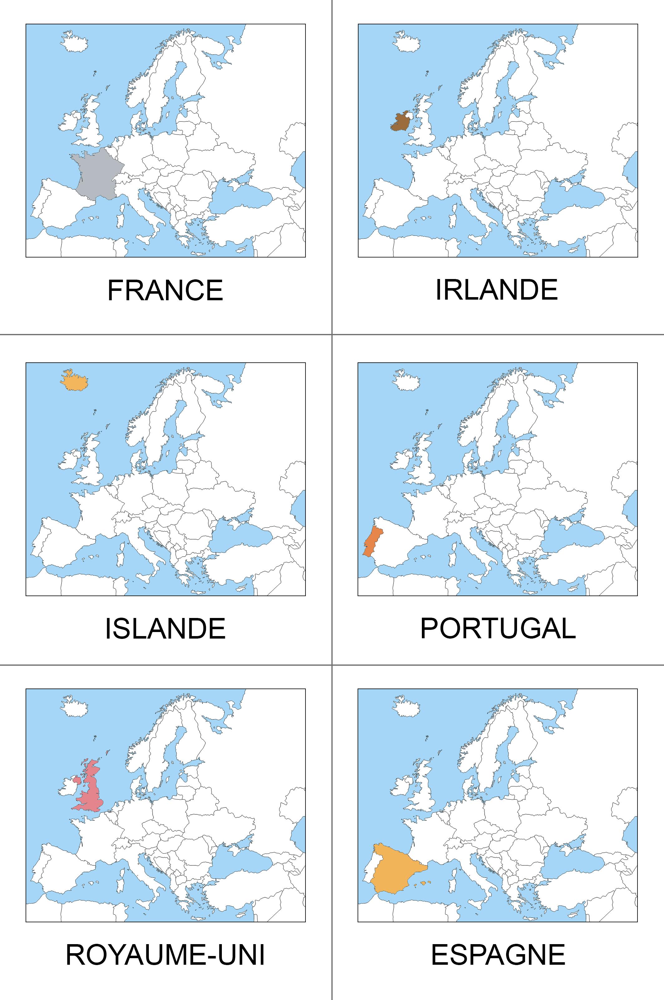 carte nomenclature Europe
