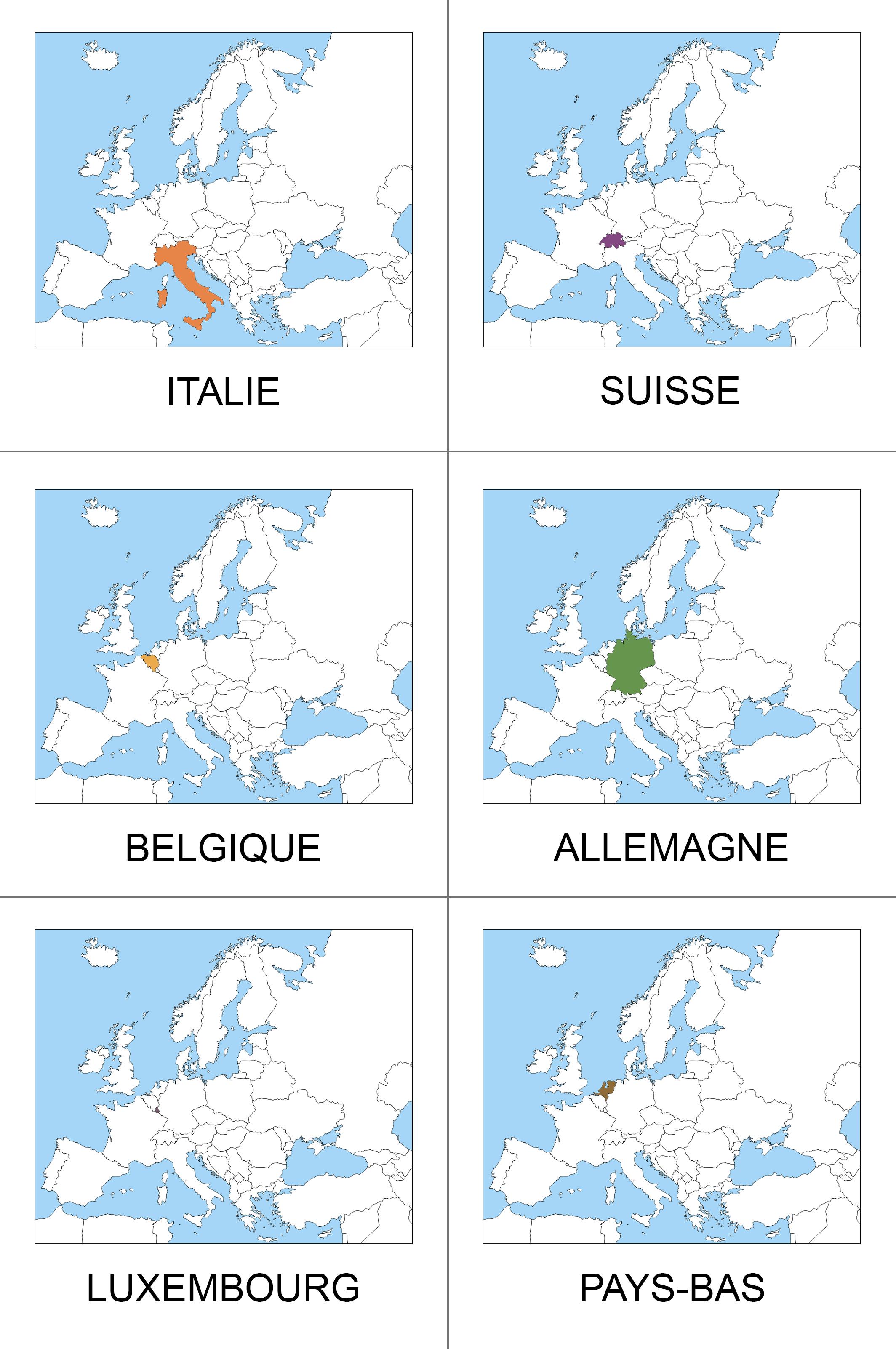 cartes nomenclature Europe