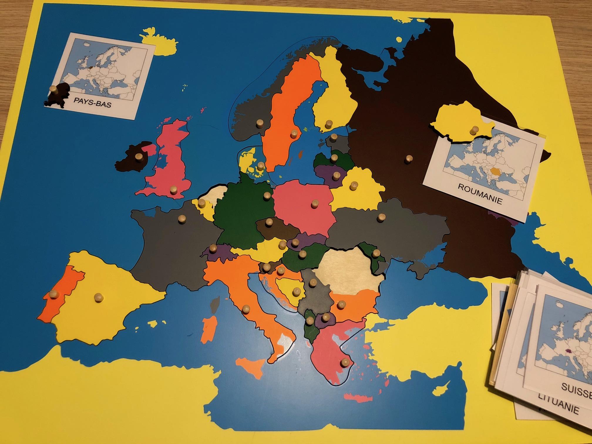 Europe carte puzzle Montessori