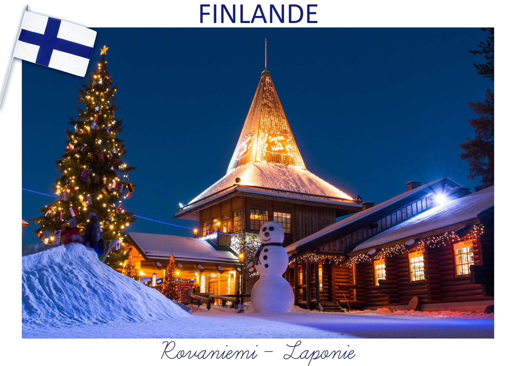 Isil elfe carte postale Finlande