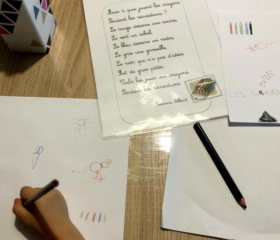 poésie du mois de septembre les crayons instruction en famille