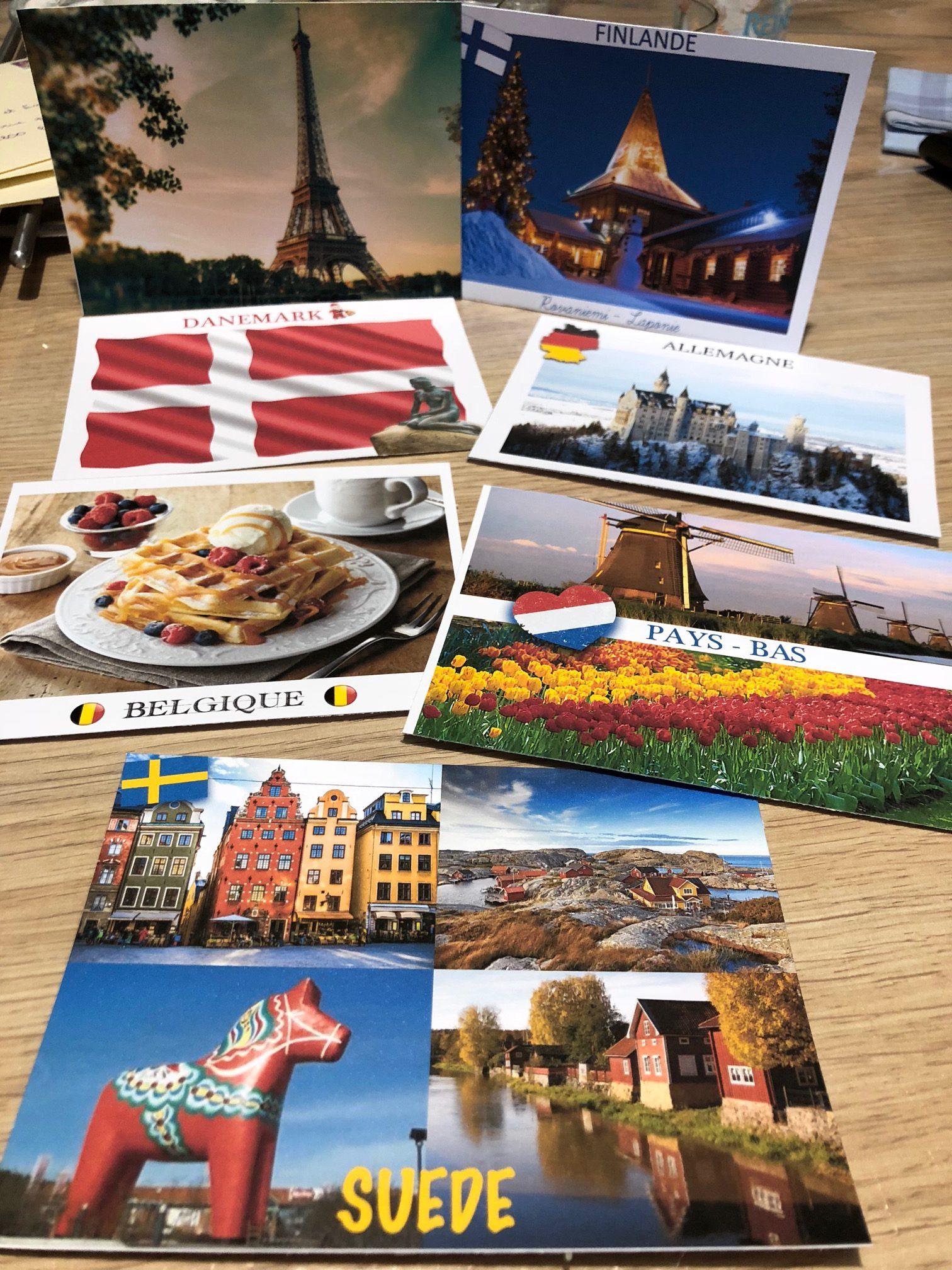Isil cartes postales voyage elfe