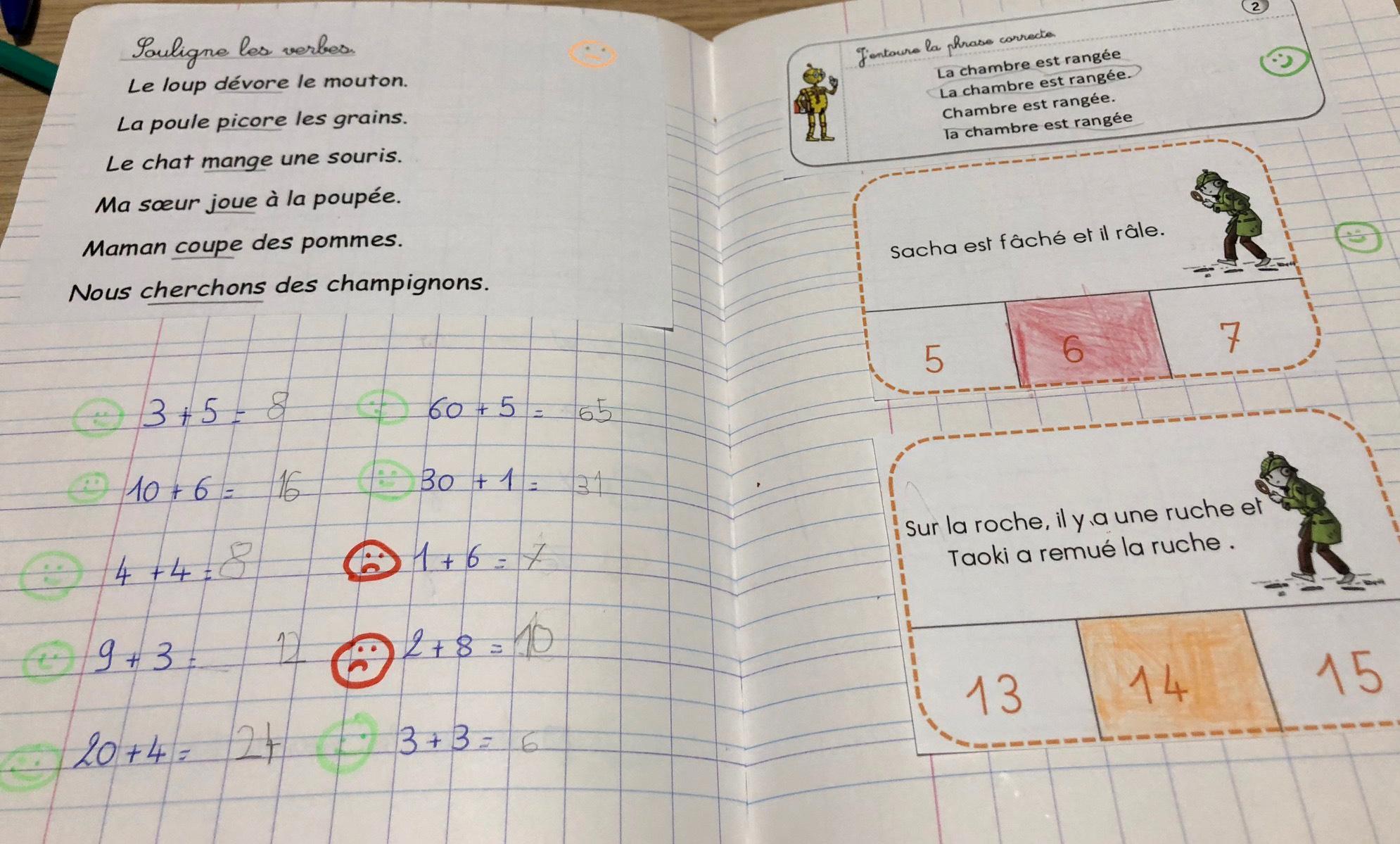 exercices pour janvier français
