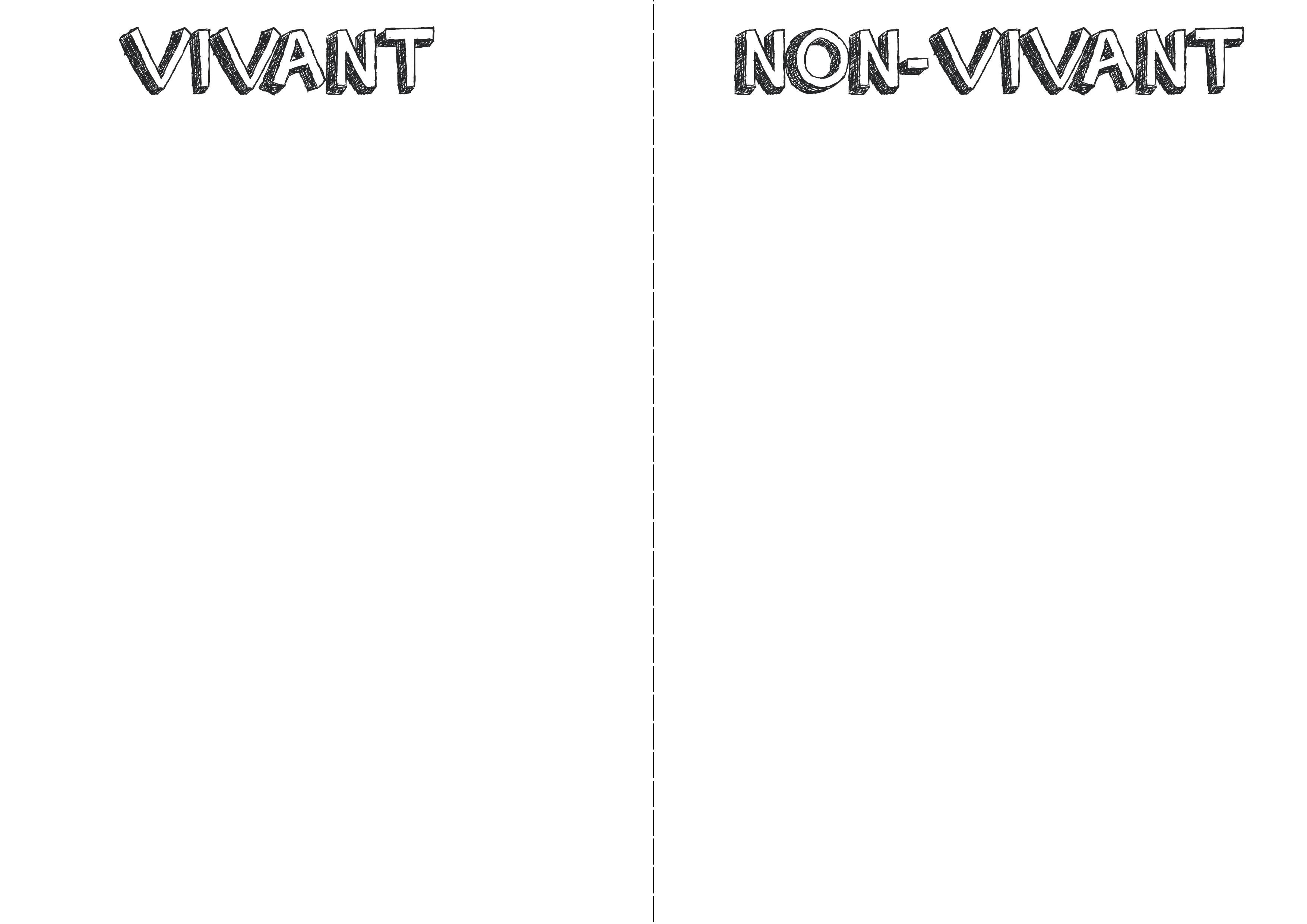 vivant ou non-vivant