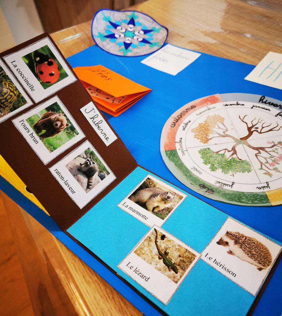 lapbook hiver instruction en famille