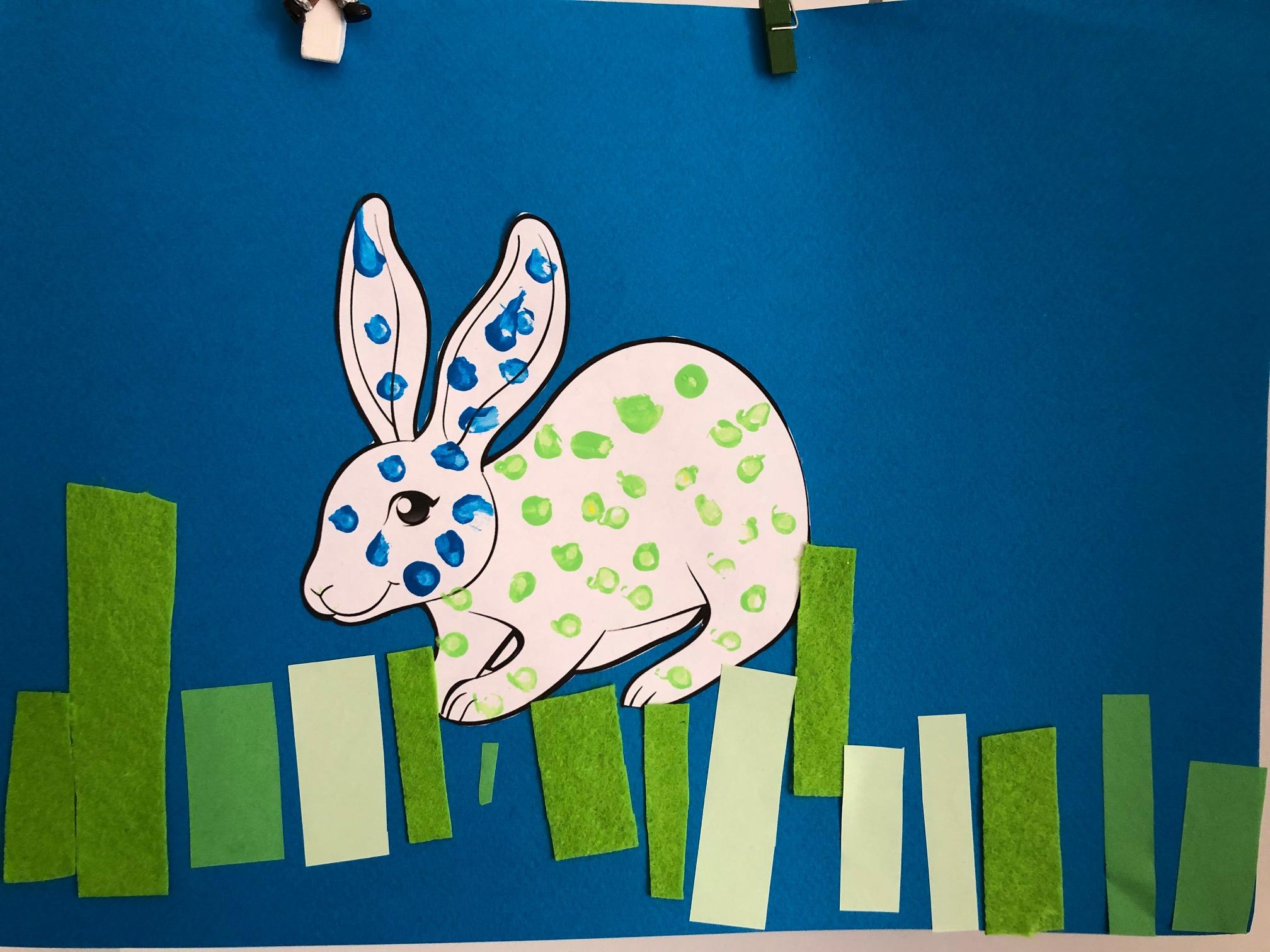 activités pour paques peinture lapin maternelle