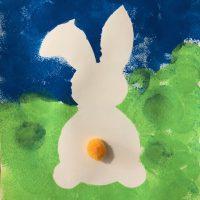 activités pour paques peinture ief lapin maternelle