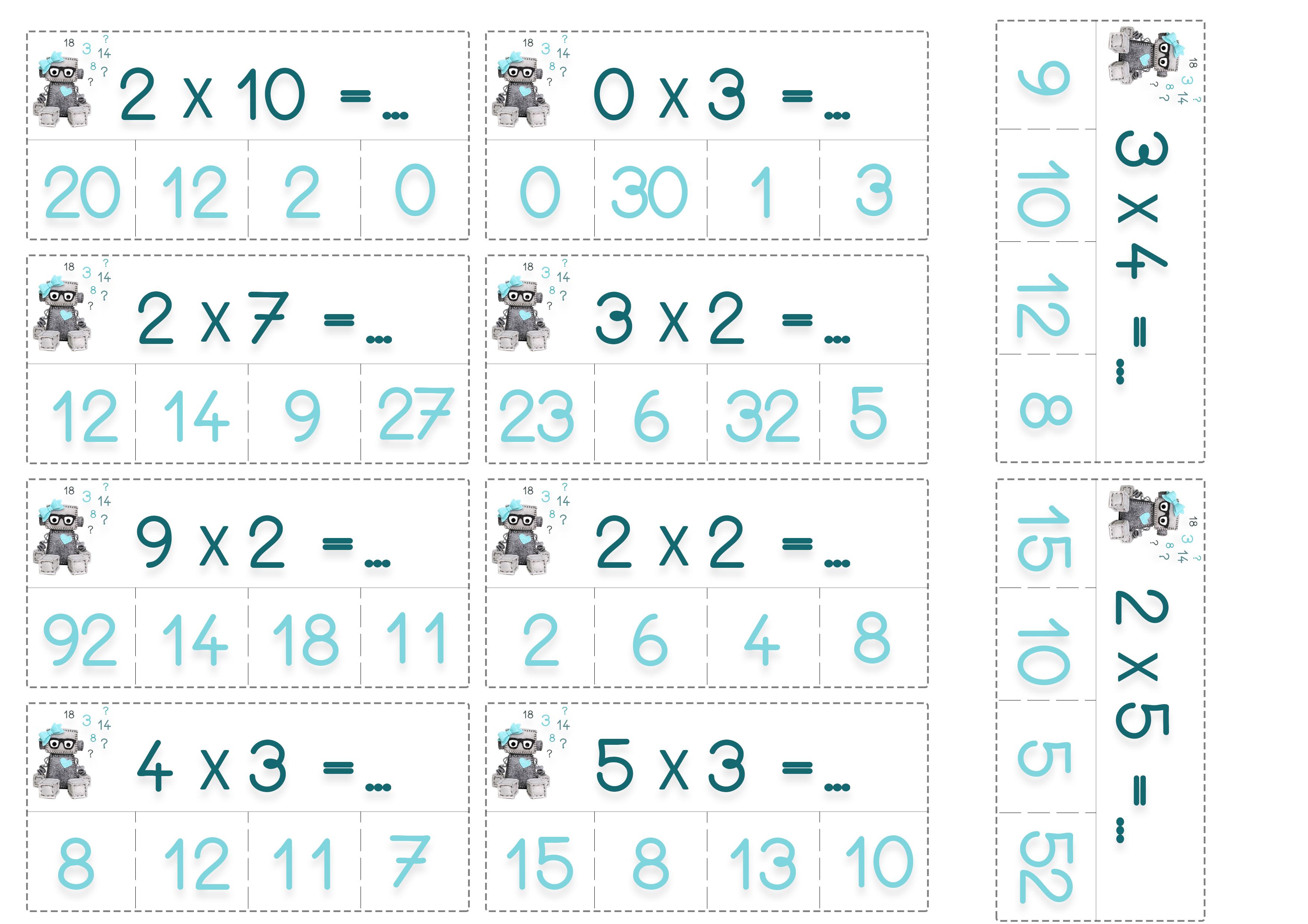 cartes à pinces calculs primaire