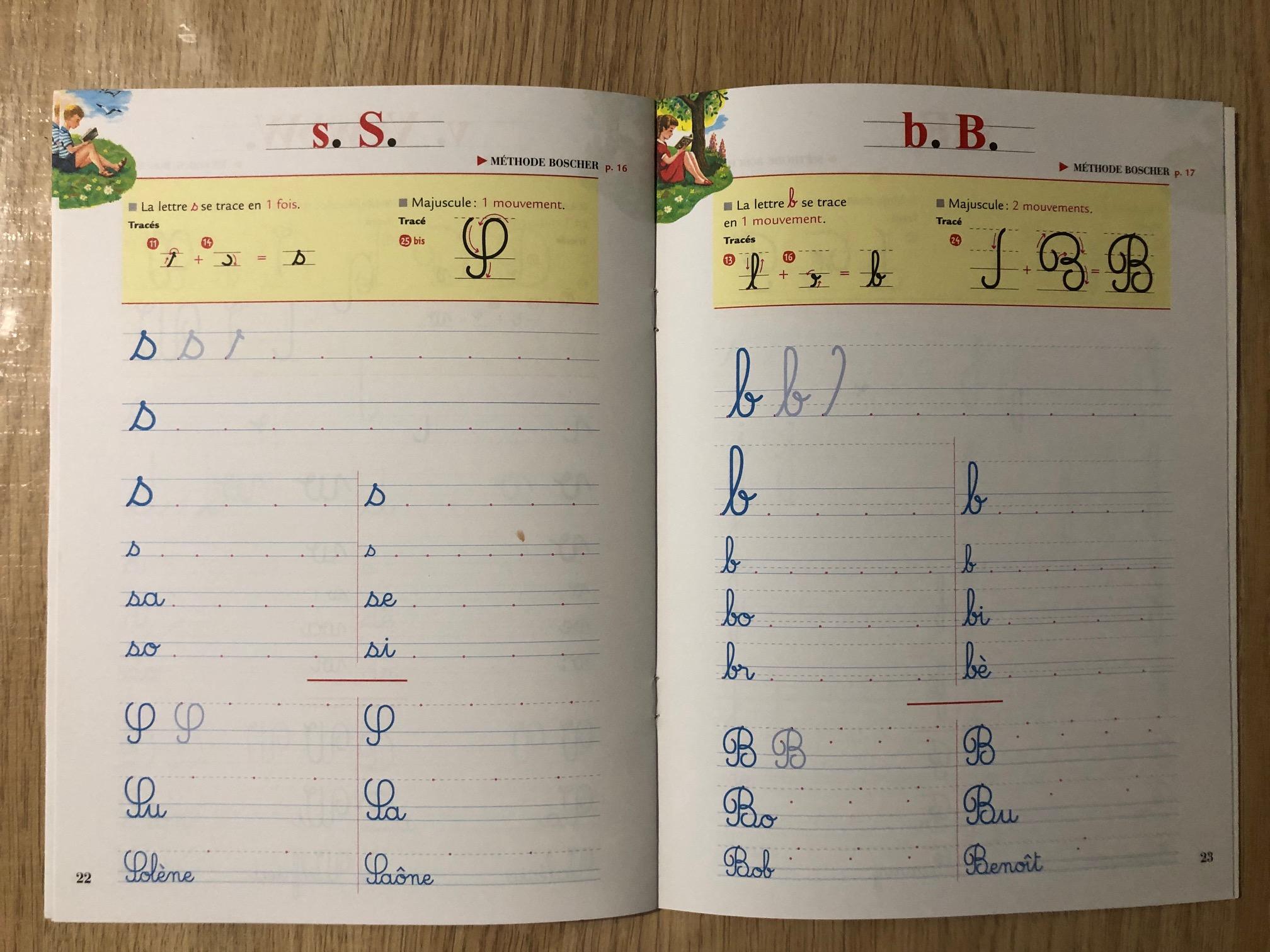 Les cahiers Boscher écriture