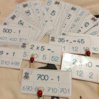 cartes à pinces calculs mathématiques