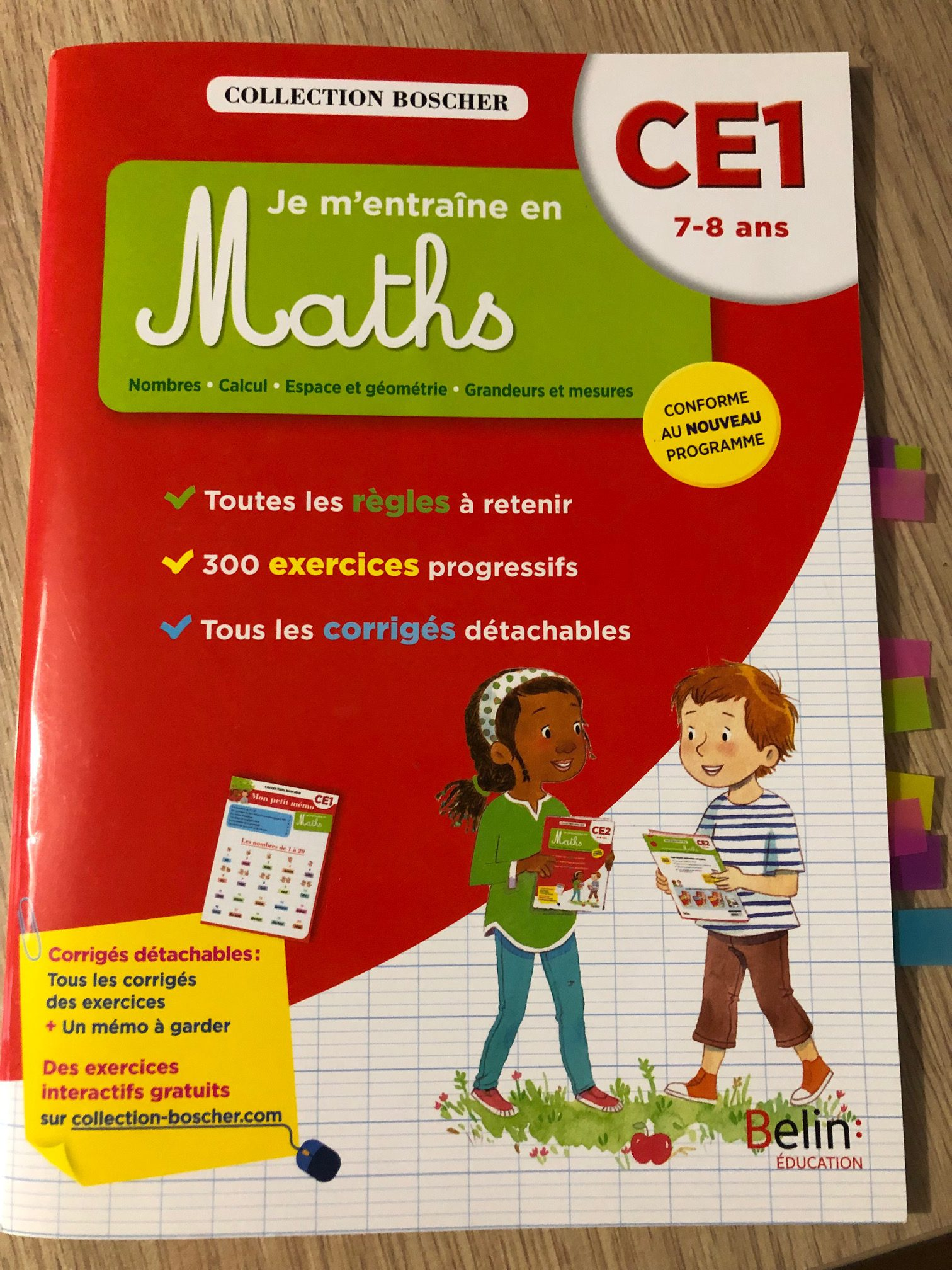Les cahiers Boscher mathématiques ce1