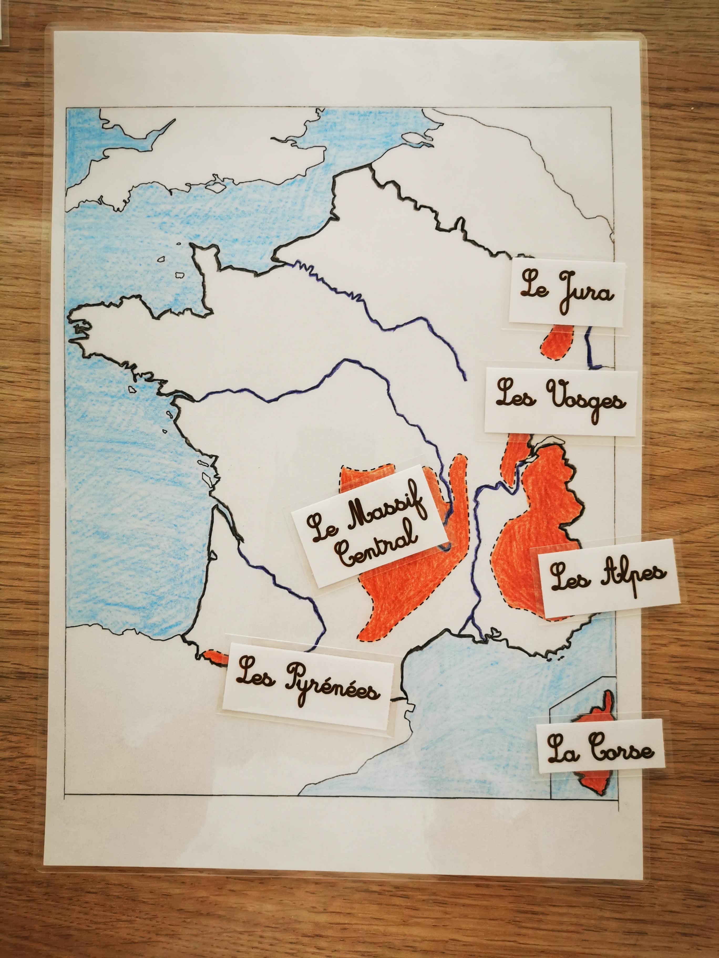 carte France des montagnes
