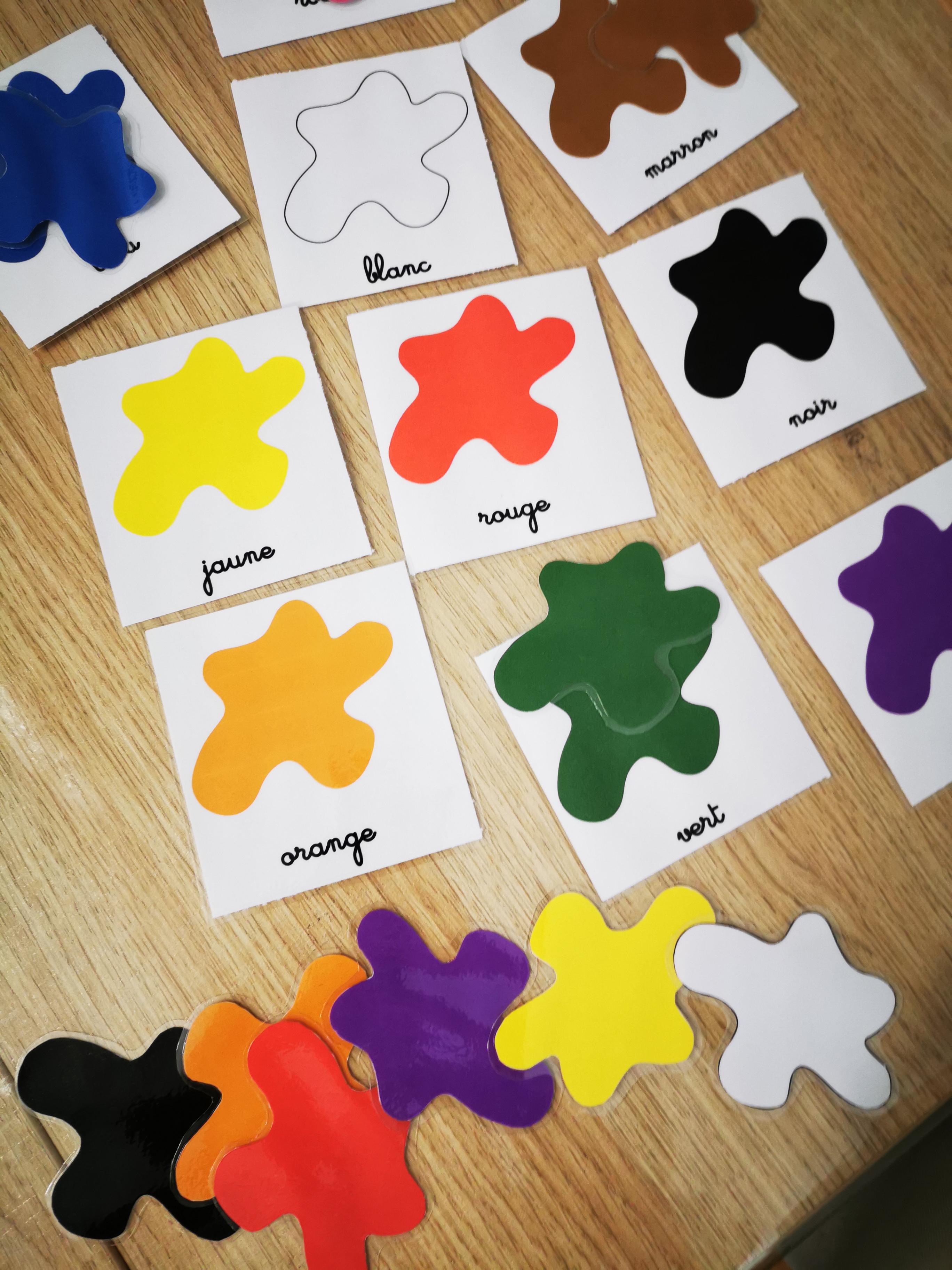 les couleurs fiches montessori nomenclature
