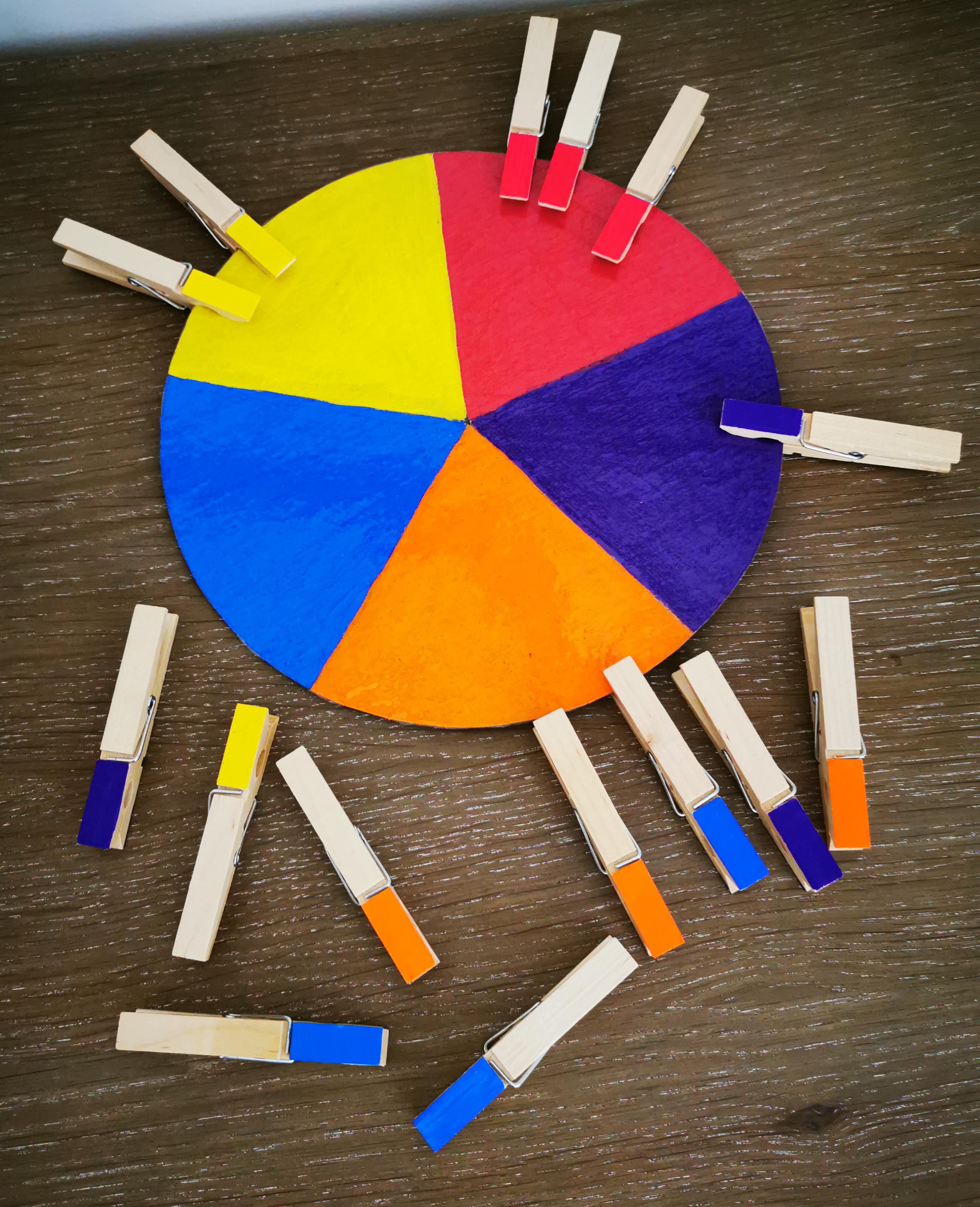montessori atelier couleurs pinces à linge
