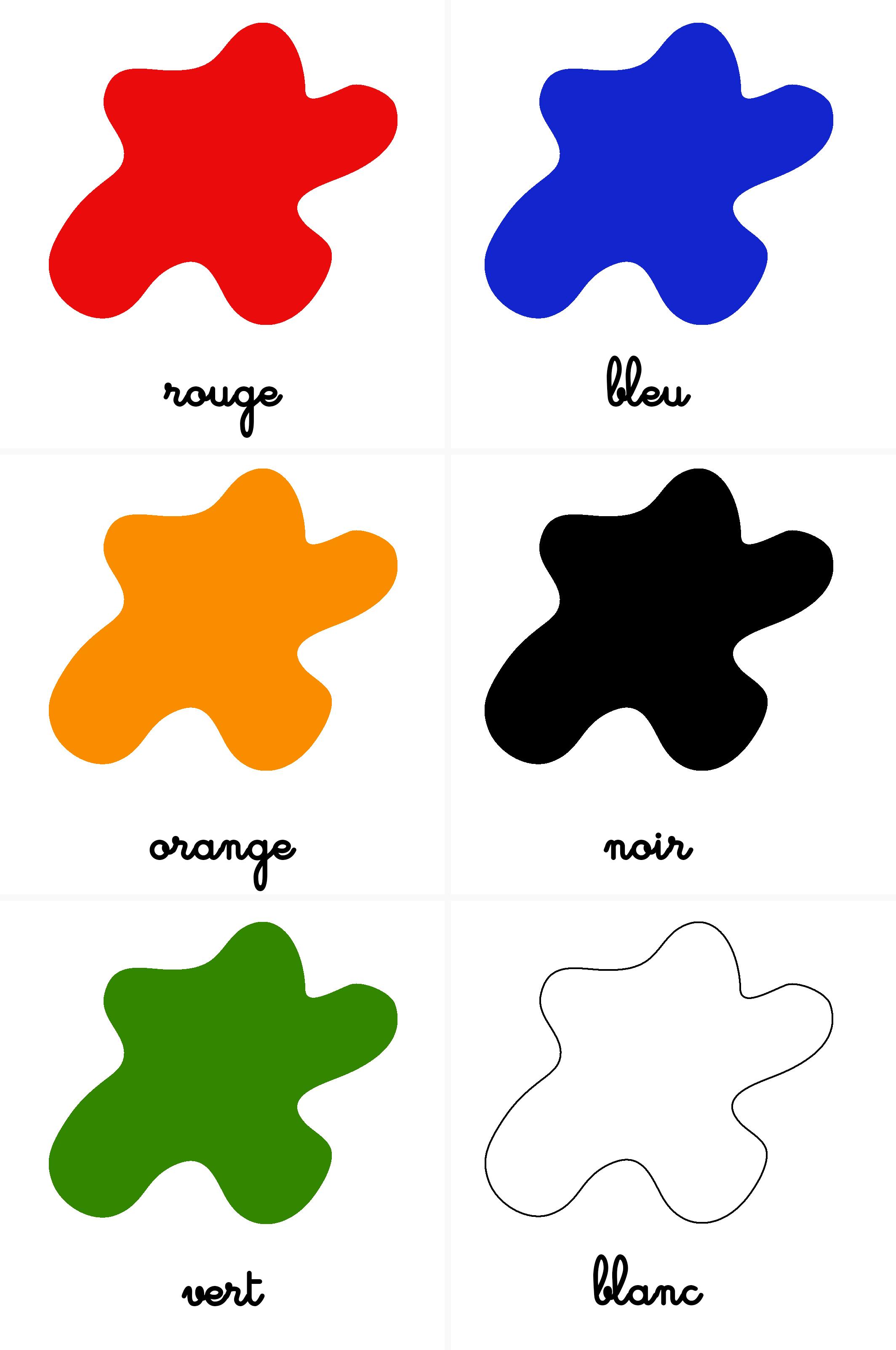 cartes nomenclature couleurs