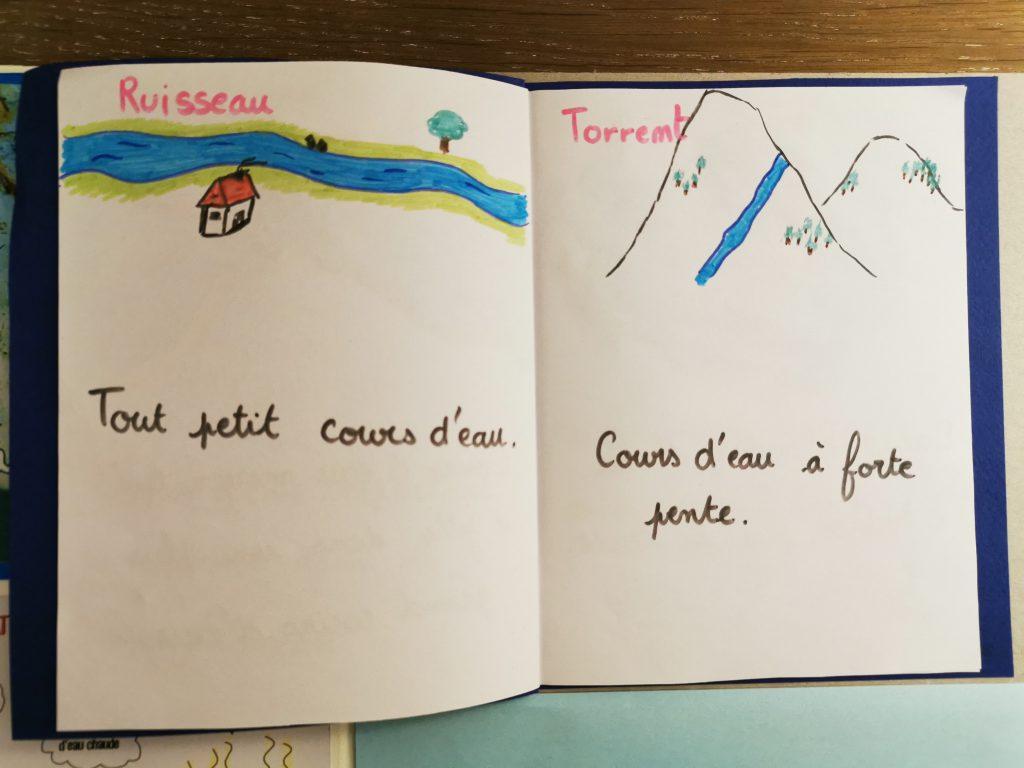 lapbook les différents cours d'eau