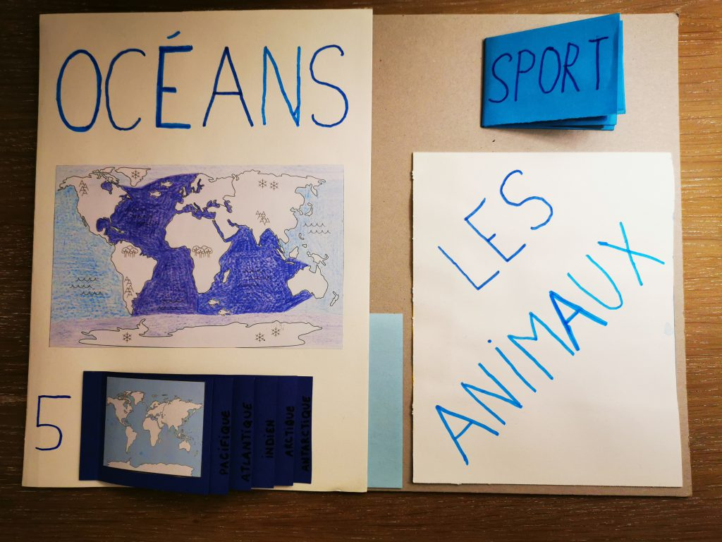 lapbook les océans projet enfant