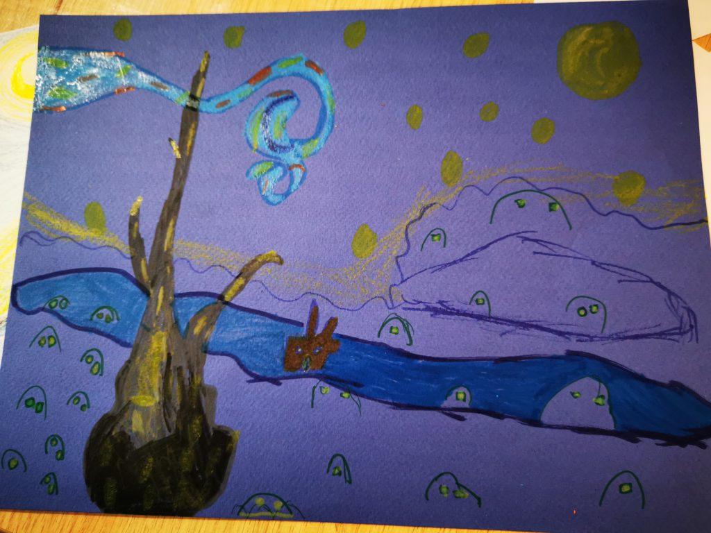art visuel nuit etoilee