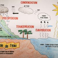 le cycle de l'eau illustration
