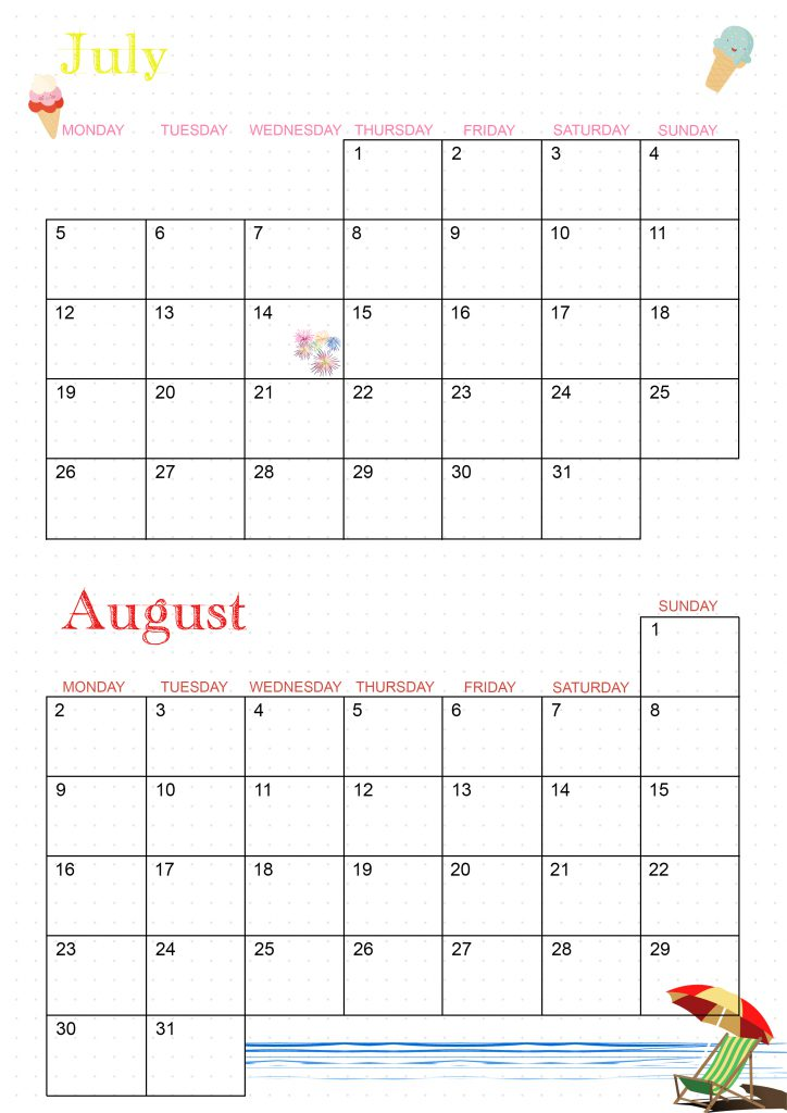 calendrier 2021 english