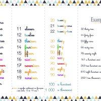 ecriture nombres anglais